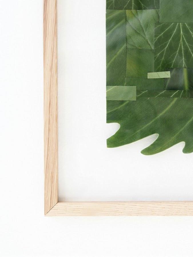 cuadro con hojas plegadas