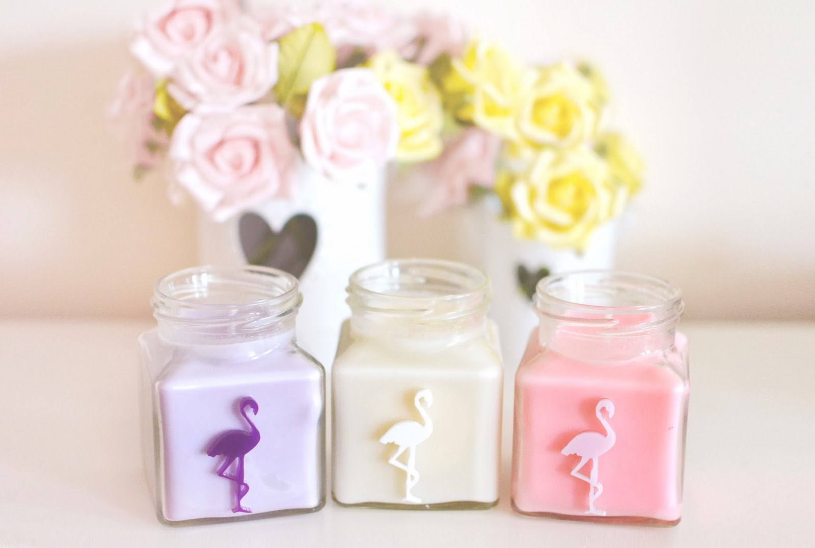 flamingo candles candy shop collection