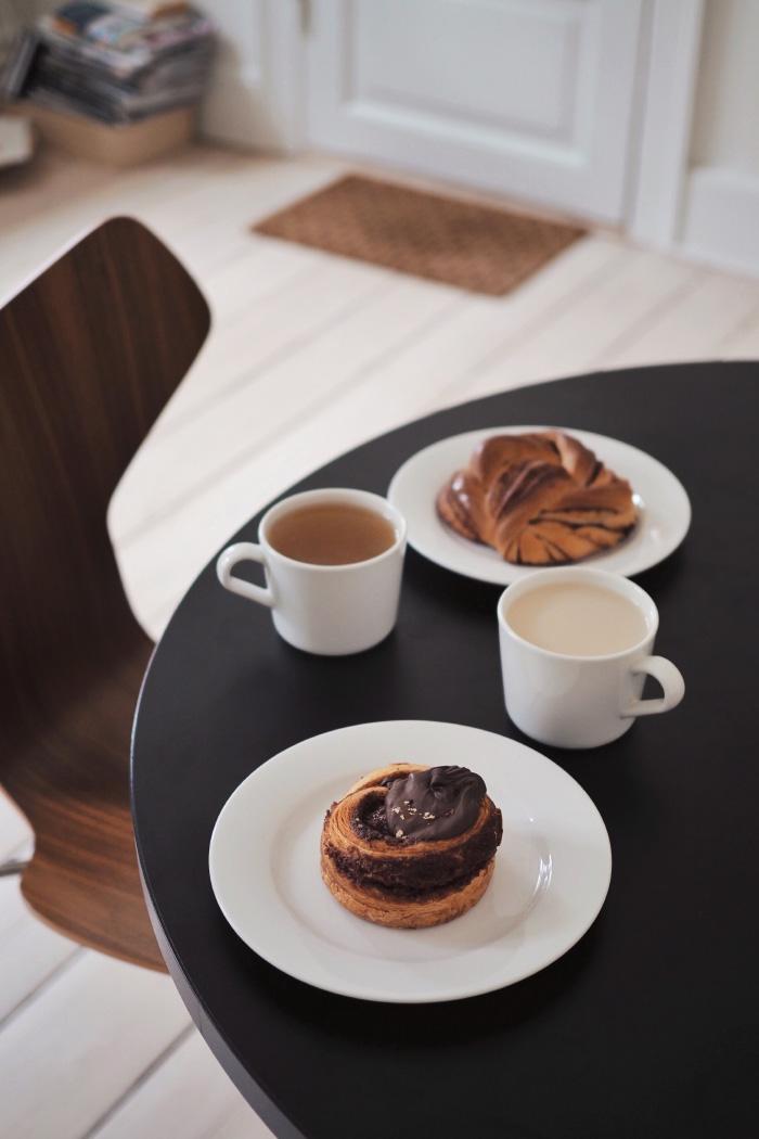 Roulé cannelle / chocolat à Copenhague