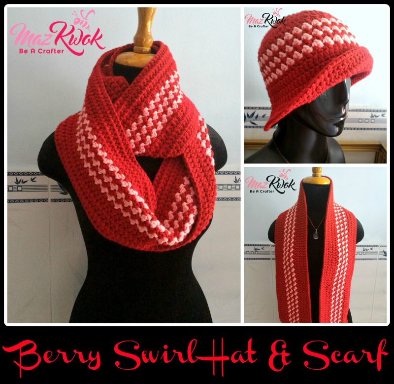 Berry Swirl Hat And Scarf Free Crochet Pattern