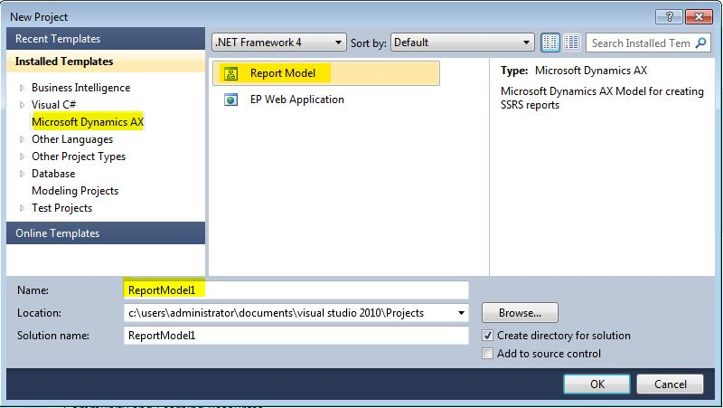 SSRS Ax 2012: How to create a simple SSRS report - Finance