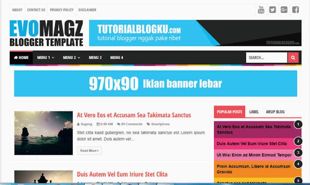 EVO MAGZ BLOGGER TEMPLATE | eaweo.com