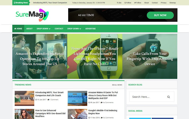 Sure-Mag-Responsive-Blogger-Template