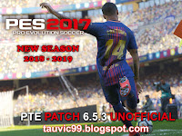 PES 2017 PTE Patch 6.5.3 Unofficial dari Tauvic99