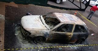 Policia descobre e apreende autor de incêndio em veículo público