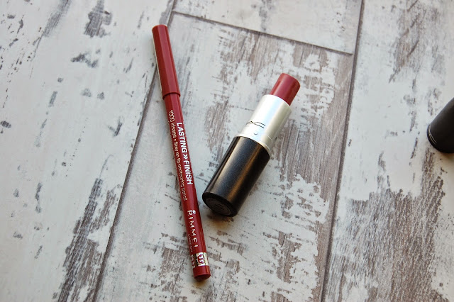 Rimmel Spice and Mac Mehr lipstick
