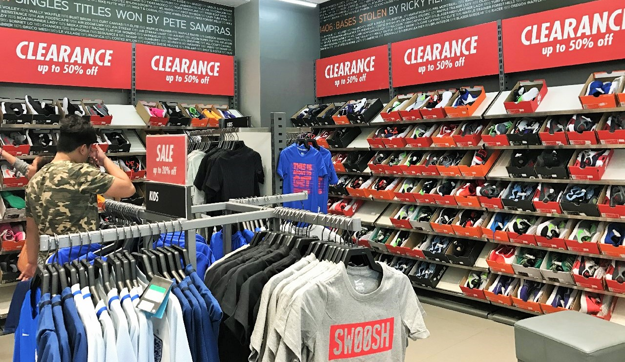 Nike fans will also be very delighted to see this Nike Factory Store which  offers great discounts on Nike shoes, apparels, bags, and accessories.
