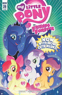 MLP Friends Forever #28 IDW Comic Regular Cover by Tony Fleecs