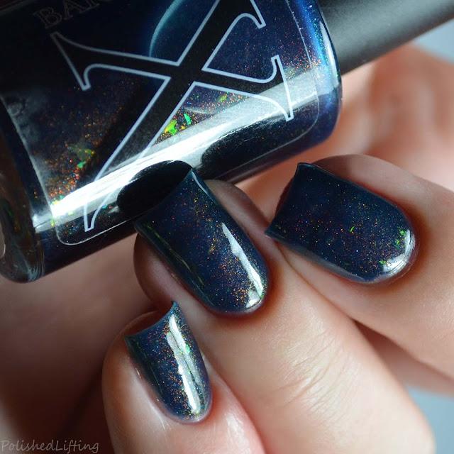 navy color shifting unicorn pee nail polish
