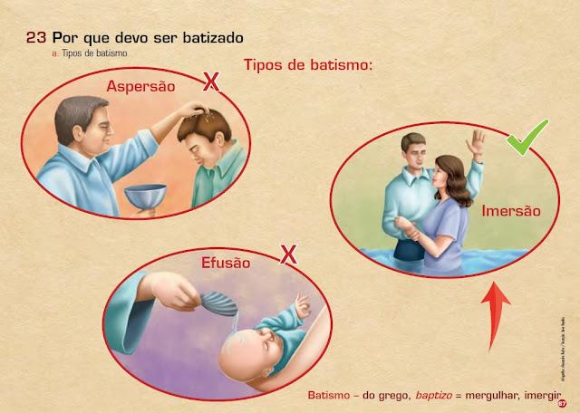 Batismo de crianças errado