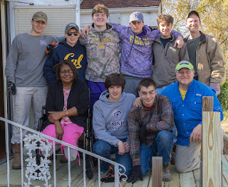 Eagle Scout Candidates help with the ramp