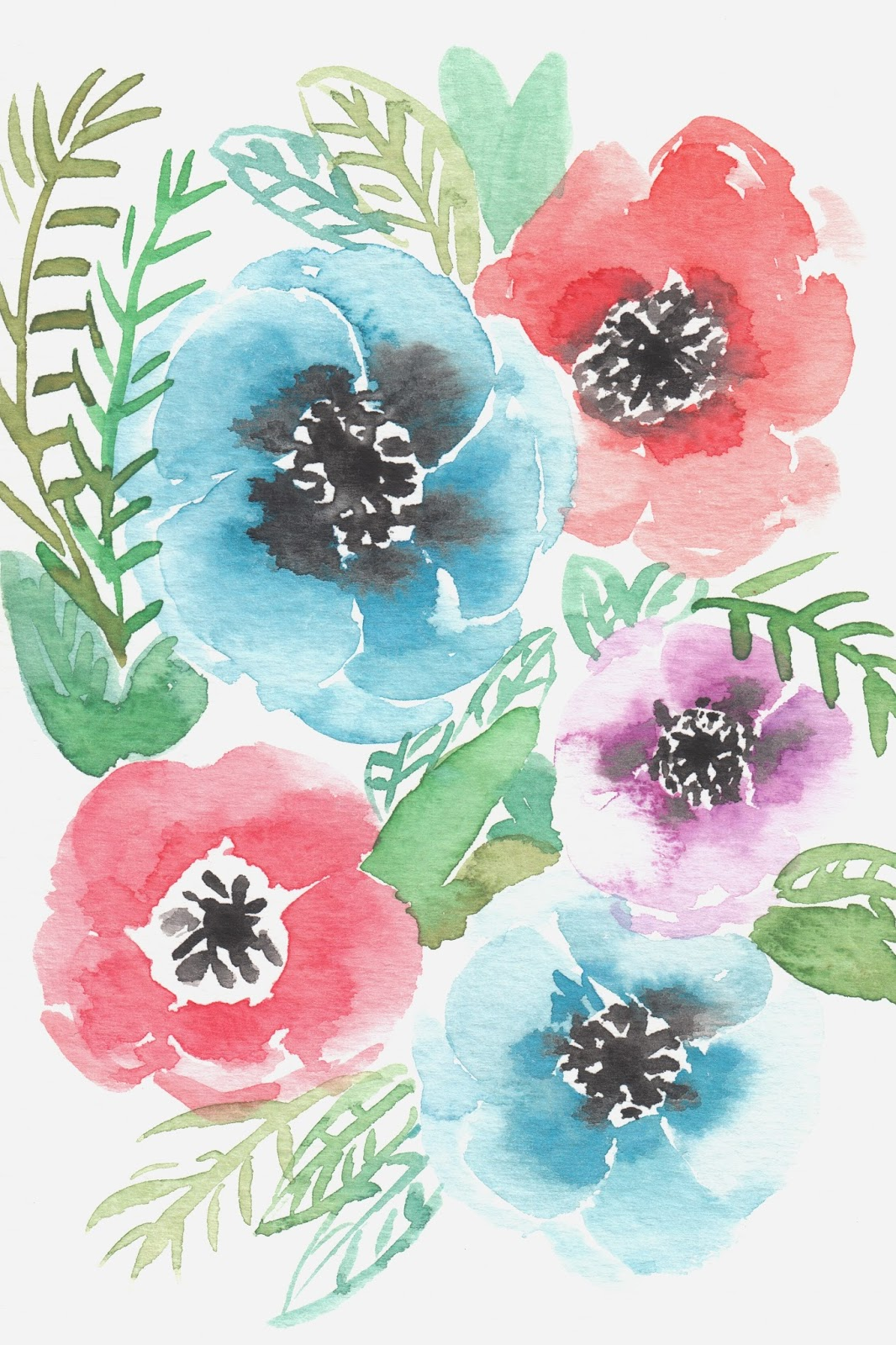 Free illustration watercolor pigment color free image - Free Watercolor Flower Printable For Personal Non Commercial Use Growcreative