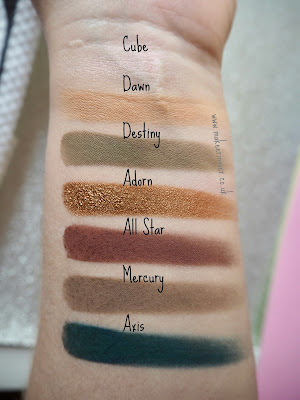 Anastasia Beverley Hills Subculture Palette swatches