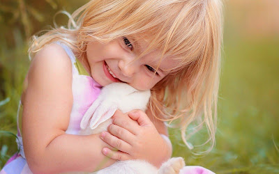 cute-girl-playing-with-rabbit