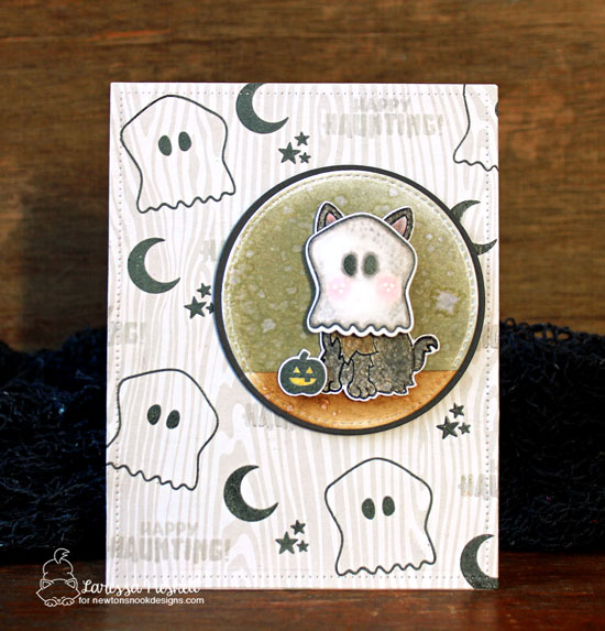 Halloween Costume card by Larissa Heskett | Newton's Costume Party and Terrific Terriers Stamp Sets and Die Sets by Newton's Nook Designs #newtonsnook #handmade