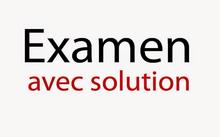 Examens Corrigés Electricité 3 SMP Semestre S4  PDF