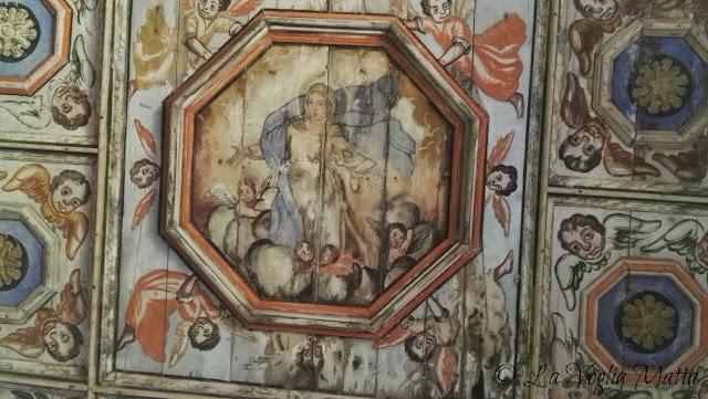 S. Maria delle lastre -Vermo ( Istria)   soffitto