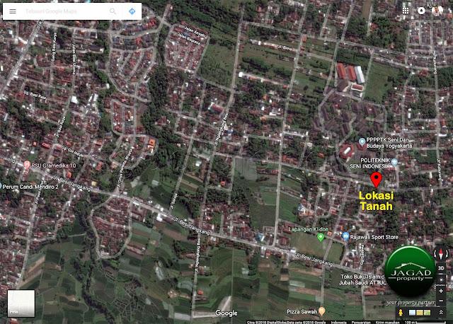 Tanah Hook depan Kampus PPPPG Kesenian jl Kaliurang Km 13