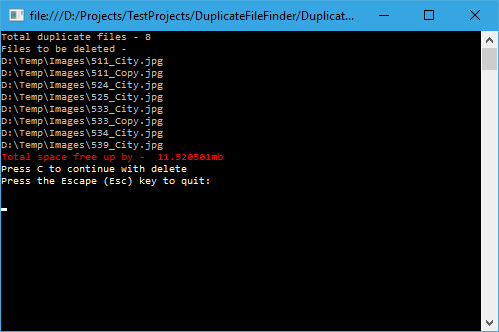 how to find and remove duplicate files