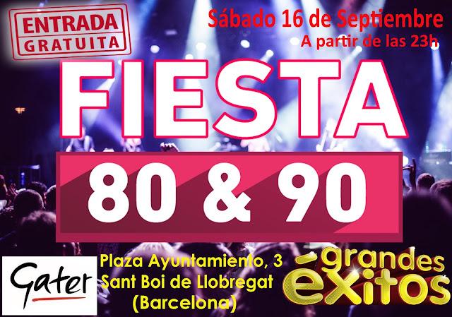 Flyer Fiesta 80s & 90s (Grandes Éxitos)