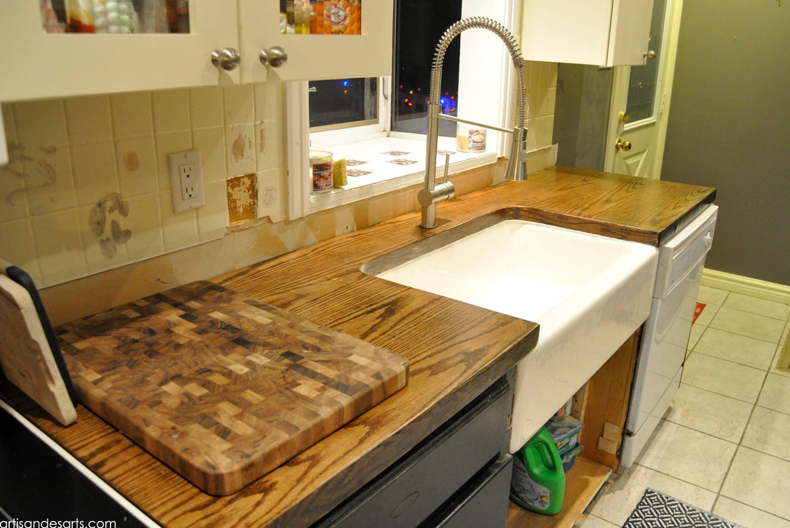 Best Wood For Butcher Block Counters: Artisan Des Arts: DIY Wood Door Butcher Block Countertops