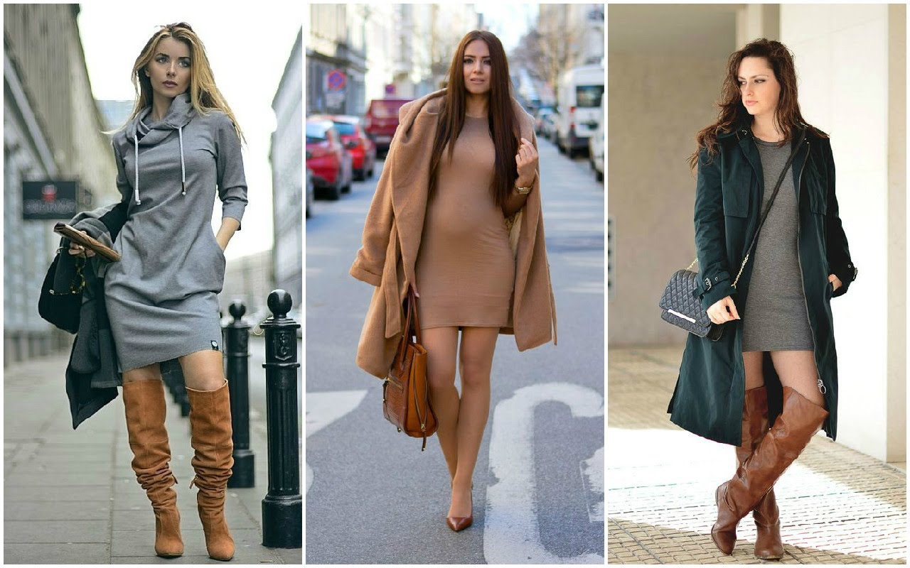 Mujer Radiante Outfit con vestidos para invierno