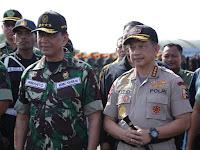 Gelar Pasukan Pengamanan Pemilu , TNI-Polri banjiri Lanud Halim