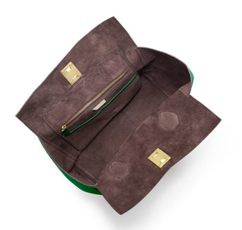 cd0ae521bff953 the inside of the bag is lined in suede and boasts two pockets: one zip and  two open. the pebbled leather is like s-m-o-o-t-h b-u-t-t-e-r, and it will  look ...