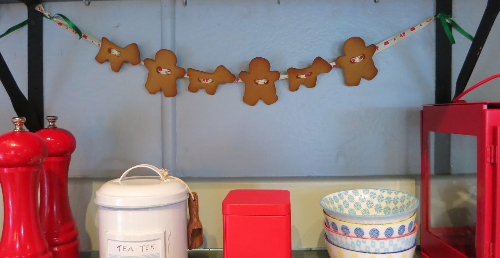 Little Miss Princess Cakes Eine Essbare Girlande Aus Gingerbread