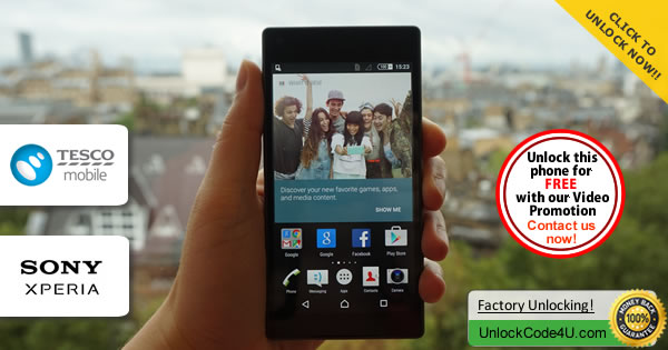 Factory Unlock Code Sony Xperia Z5 Compact from Tesco