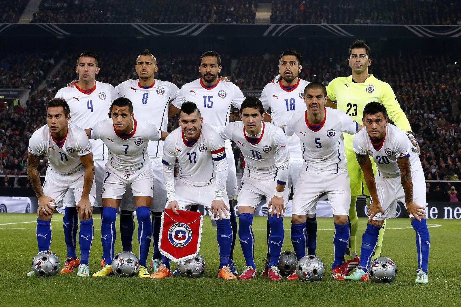 Formación de Chile ante Alemania, amistoso disputado el 5 de marzo de 2014