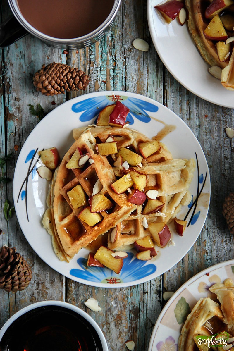 Apple Cinnamon Waffles #recipe