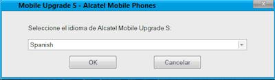 abrir el programa alcatel mobile upgrade