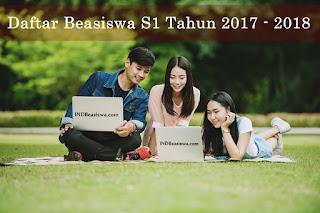 daftar beasiswa s1 tahun 2017 2018