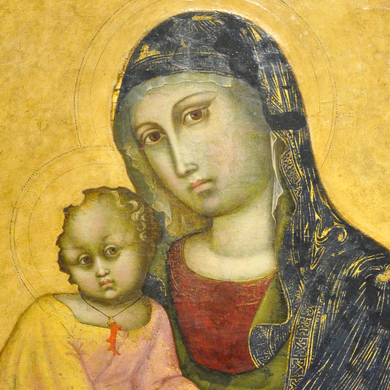 Madonna with a child, Barnaba da Modena, middle of 14th century, Antique Art Museum, Palazzo Madama, Turin, Italy