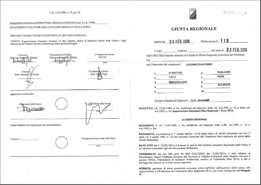 Calendario Regionale Abruzzo.Arci Pesca F I S A Comitato Provinciale Di Chieti Regione