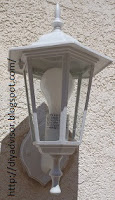 Common patio lamp with large gap