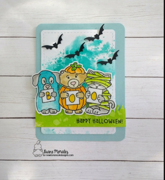 Boo by Diane features Halloween Trio, Land Borders, and Frames & Flags by Newton's Nook Designs; #newtonsnook