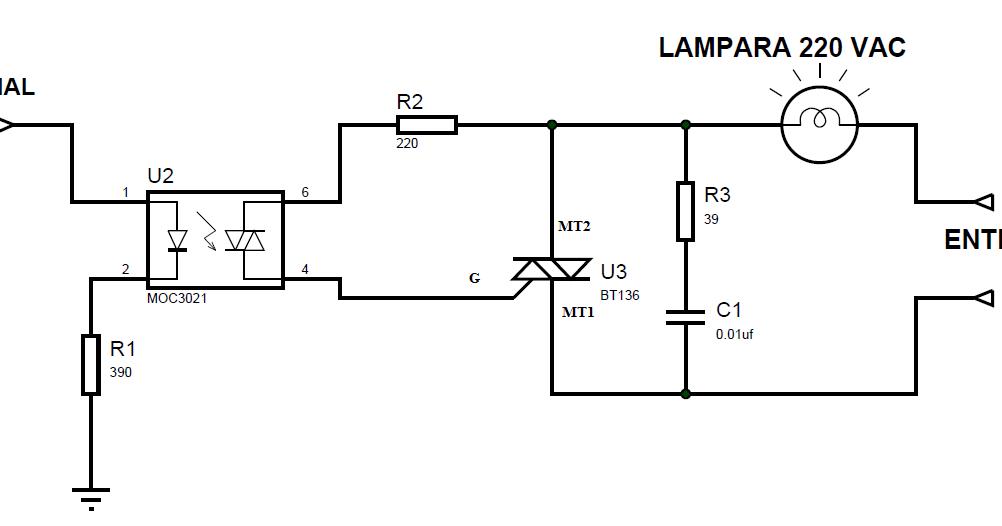 Circuito Optoacoplador : Interface con optoacoplador proyectos