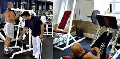 Pantorrilla en prensa ejercicio hombre rutina pesas