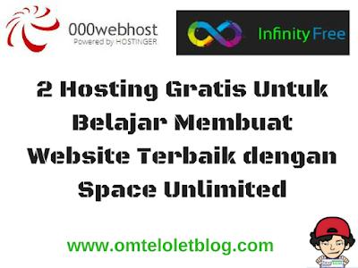 Hosting Gratis Untuk Belajar Membuat Website Terbaik dengan Space Unlimited
