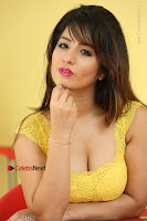 Cute Telugu Actress Shunaya Solanki High Definition Spicy Pos in Yellow Top and Skirt  0588.JPG