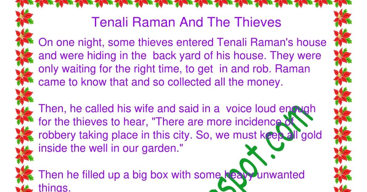 STORIES TREE: Tenali Raman And The Thieves