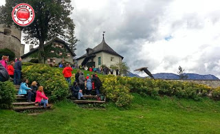 Exhibición de cetrería en Hohenwerfen, Austria