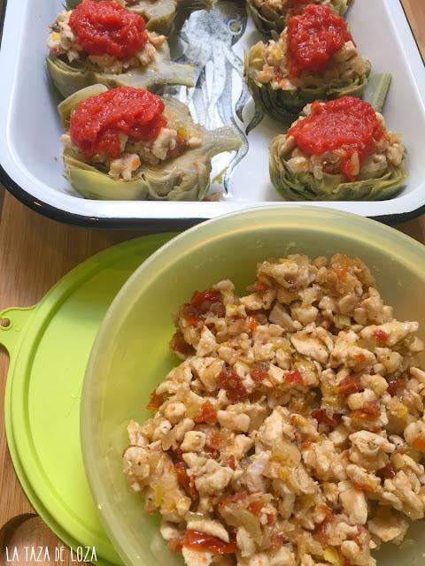 relleno-de-pechuga-de-pollo-cebolla-puerro-tomate-seco