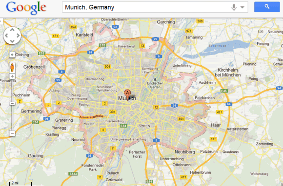 Highlight Areas In Google Maps - Germany map google