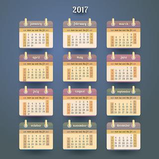 2017カレンダー無料テンプレート109