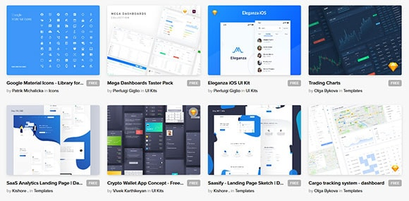 free design resource ui kits mockup font icon uibundle