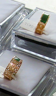 Yellow gold diamond and jade rings prices
