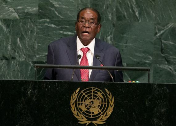 #UNGA: Mugabe at UN stands up to 'Giant Gold Goliath' Trump (See What Happened Next)
